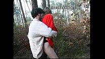 teen sucks boyfriend in forest preview image