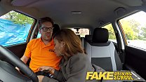 Fake Driving School young ebony enjoys creampie for free lessons preview image