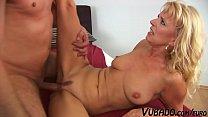 Blonde Step Mom Doesn't Enjoy Blowing Large Dicks