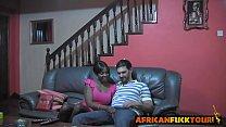 Amazing POV homemade video of interracial fuck with a curvy amateur ebony babe