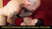 CASTING ALLA ITALIANA - Cum eating Marie Clarence sucks and fucks Omar Galanti Vorschaubild