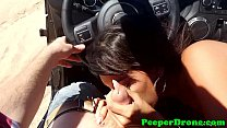 Jeep sex filmed by drone thumbnail