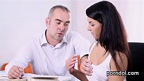 Lovely college girl gets seduced and shagged by her older lecturer