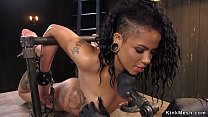 Alt ebony tormented in device bondage video
