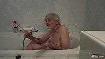 14391 Old Young cleaning lady gets fucked by wrinkled grandpa and swallows cum preview