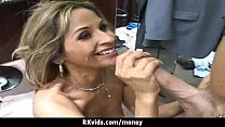 Sexy wild chick gets paid to fuck 12