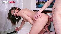 TRANSBELLA - Brazilian Tranny Luana Bazooka Takes Curious Stud's Hard Cock