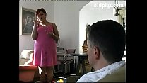 Mature cleaning lady take care of a young cock