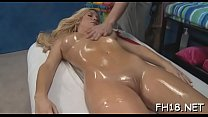 Hot chick just lowers her head and begins performing irrumation