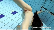 Anna - nude swimming underwater