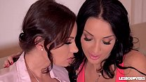 Lesbians Abbie Cat & Anissa Kate Titty Suck, Finger, & Fuck With a Strap-On