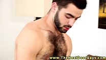 Hairy muscular hunk giving anal
