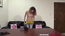 18309 Petite teen Summer creampied after screwing at porn casting preview