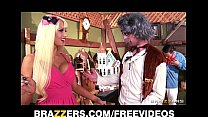 Big-tit blonde fuck doll Rikki Six hes perfect pink pussy spread and stretched Thumbnail