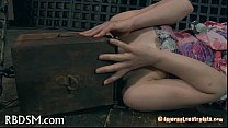 Caged Babe Forced To Give Oral Stimulation