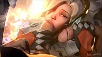Image: Overwatch Mercy Double Dicked