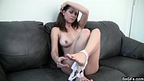 Amateur Babe Strips and Shows Everything She Has To Offer