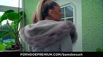 BUMS BESUCH - Busty German porn star Dana Jayn fucks mature amateur fanboy thumbnail