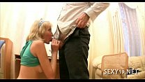 Babe is hungry for teacher's cock Image