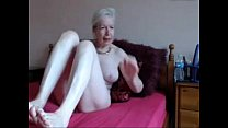 Amateur. Gorgeous horny granny masturbates video