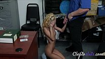 Blonde Bimbo Caught For Stealing & Forced Into Sex- Sadie Hartz