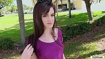 Hot babe rides strangers dick for money thumbnail