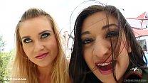 Selena - Angel getting sperm in mouth - sharing it in hot Sperm Swap threesome