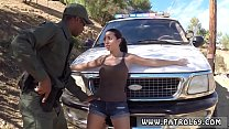 Gets arrested and fucked by a cop first time Latina Babe Fucked By