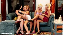 Menage a Quatre by Sapphic Erotica - lesbian love porn with Hailee - Lila