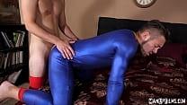 Superman Dante Colle Dominates Bad Guy Michael Delray! Cosplay   Chastity!