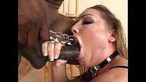 Blonde anal slut in stockings Flower Tucci loves getting ass fucked by a huge black cock