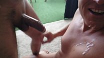 Wife tells husband to suck a strangers cock with lots of cum.