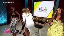 Aylin Mujica Pezones Marcados y Culazo Minivestido VLA
