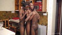 Black African Twinks Bareback Threesome