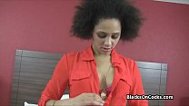 Dicking a perky ebony amateur at casting