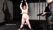 Crying fat slaveslut Nimues extreme whipping and stern discipline of bbw sub in Preview