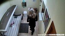 Blonde Girl Caught is Solarium