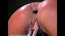 Crystel Leis bizarre hardcore and extreme ass punishment of cheeky blonde slaves