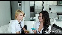 Tiny petite teens 3way Adriana Lynn and Dakota Skye 4 91 preview image