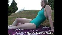 ineed2pee - sheila green swimsuit wetting