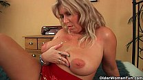 Mature soccer mom with natural big tits gets fucked image