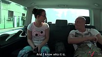 Mea Melone eat cum from Wendy Moon's pussy after wild in car fuck Preview