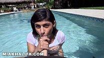 Mia Khalifa's Wet Big Tits Getting Fucked By The Pool (mk13785) thumbnail