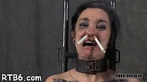 Pretty slaves are fastened and given hardcore bdsm t.