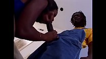 Sexy butt black slut gets twat sucked and fucked by black guy on sofa