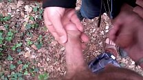 Francky sucks a guy in the forest he jerks me off I cum in his hand