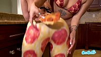 Kelsi Monroe in pizza delivery man orgy thumbnail
