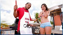 BANGBROS - Grill Master Shorty Mac Serves Alexis Breeze Some Meat