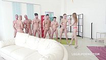 Kira Thorn first 7on1 Double Anal GangBang - Acrobatic Sex - 7 Facials preview image
