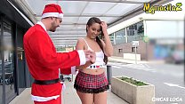 MAMACITAZ - Hot Spanish Teen Nikki Litte Has Hardcore Christmas Sex Outdoor